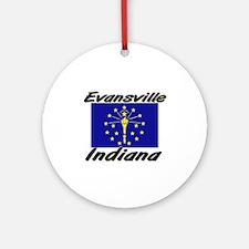 Evansville Indiana Ornament (Round)