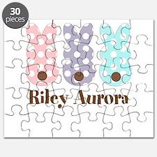 Custom name Polka dot bunnies Puzzle