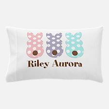 Custom name Polka dot bunnies Pillow Case
