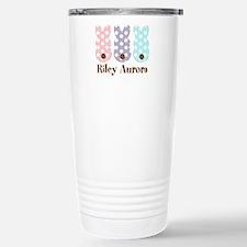 Custom name Polka dot bunnies Travel Mug