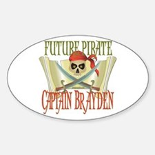 Future Pirates Oval Decal