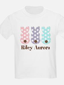 Custom name Polka dot bunnies T-Shirt