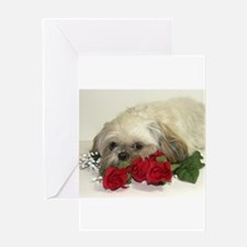 Unique Dog shih tzu Greeting Card