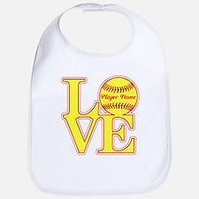 Personalized Love Softball Bib
