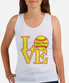 Personalized Love Softball Tank Top