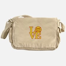 Personalized Love Softball Messenger Bag