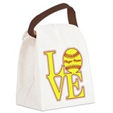 Softball Canvas Lunch Bag