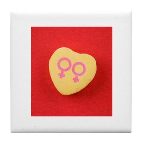 Lesbian women - Valentine Can Tile Coaster