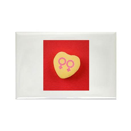 Lesbian women - Valentine Can Rectangle Magnet