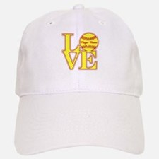 Personalized Love Softball Baseball Baseball Baseball Cap