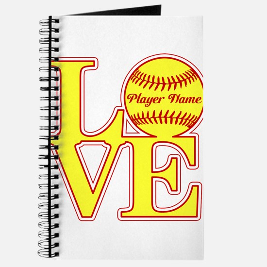 Personalized Love Softball Journal