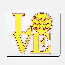 Personalized Love Softball Mousepad