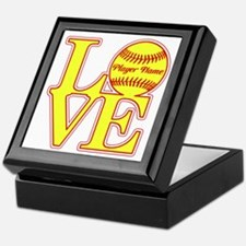 Personalized Love Softball Keepsake Box