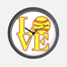 Personalized Love Softball Wall Clock