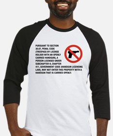 No Open Carry Baseball Jersey