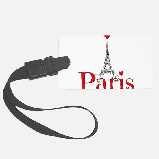 I love Paris Large Luggage Tag