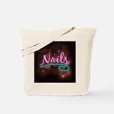 Neon Nails Sign Tote Bag