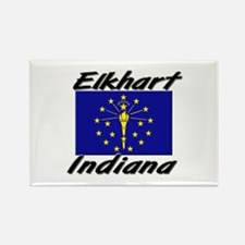 Elkhart Indiana Rectangle Magnet