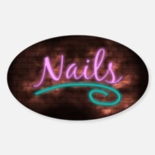Neon Nails Sign Decal