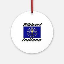 Elkhart Indiana Ornament (Round)