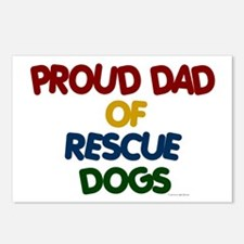 Proud Dad Of Rescue Dogs 1 Postcards (Package of 8