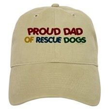 Proud Dad Of Rescue Dogs 1 Baseball Cap