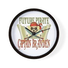 Future Pirates Wall Clock