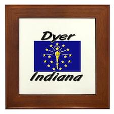 Dyer Indiana Framed Tile