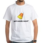 Halloween Candy Corn White T-Shirt