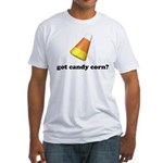 Halloween Candy Corn Fitted T-Shirt