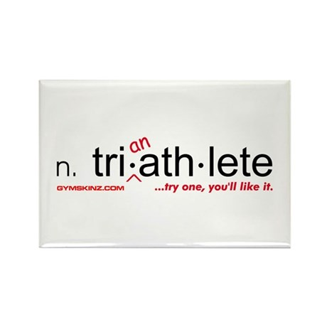 """""""Tri-an-Athlete"""" Rectangle Magnet"""