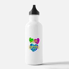I Love Knitting Water Bottle