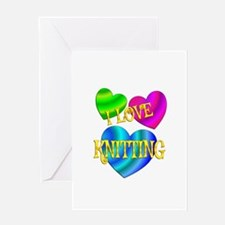 I Love Knitting Greeting Card