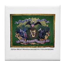 28th Massachusetts Tile Coaster