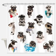 Miniature Schnuazer Shower Curtain