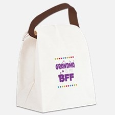 GRANDMA IS MY BFF Canvas Lunch Bag