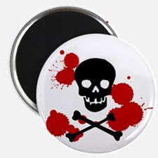 Skull and Blood Splatter Magnet