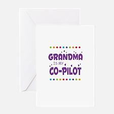 GRANDMA IS MY COPILOT Greeting Cards