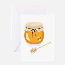 Honey Bee Jar Greeting Cards