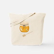 Honey Bee Jar Tote Bag
