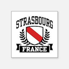 """Unique France Square Sticker 3"""" x 3"""""""