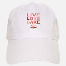 Live Love Bake Baseball Baseball Cap