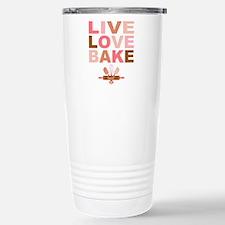 Live Love Bake Stainless Steel Travel Mug