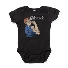 Cute Girl power Baby Bodysuit