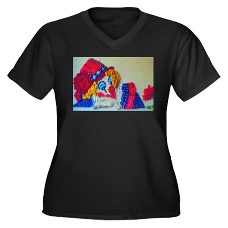 Clowns Women's Plus Size V-Neck Dark T-Shirt