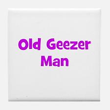 Old Geezer Man Tile Coaster