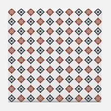 TRIPPY TRIBAL Tile Coaster