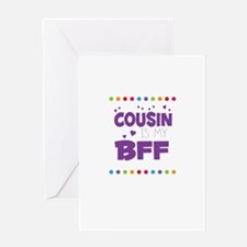 COUSIN IS MY BFF Greeting Cards