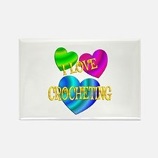 I Love Crocheting Rectangle Magnet