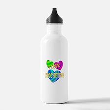 I Love Crocheting Water Bottle